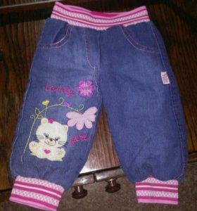 Штанишки (штаны, джинсы) теплые