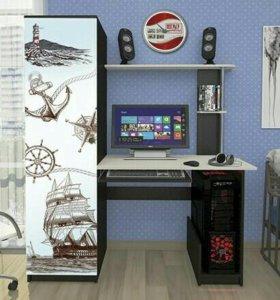 Компьютерный стол «КС-001» венге - беленый дуб