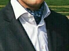 Мужской галстук аскот (шейный платок) шёлк 100%.