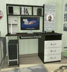 Компьютерный стол «КС-002» венге - беленый дуб