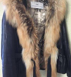 Куртка-жилет (трансфомер) натуральная кожа