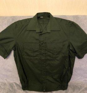 Новая офисная рубашка с коротким рукавом