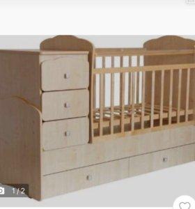 Детская кровать трансформер, есть ограждение