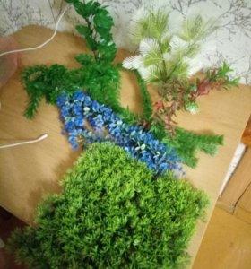 растения для аквариума (пластик)