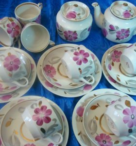 Чайный фарфоровый сервиз Вербилки ( 5+3)