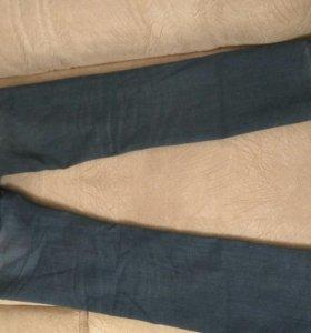 Синие джинсы прямые