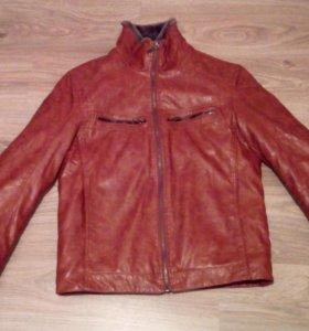 куртка зимняя, из натуральной кожи и меха