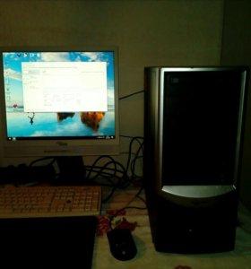Компьютер 4х ядерный с монитором