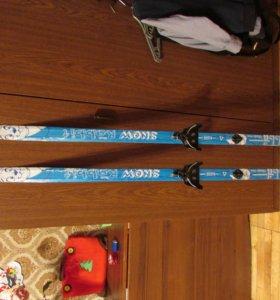 Лыжи детские 140 см