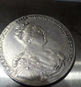 Монета 1р 1726г. 100%серебро 999. Реплика