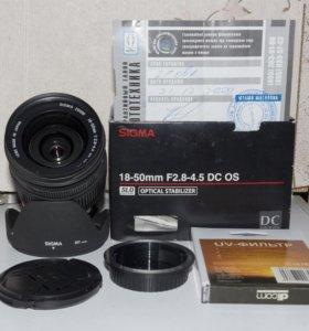 SIGMA 18-50 F2,8-4,5 DC OS