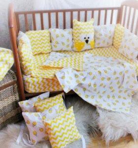 Набор в кроватку Бортики в детскую кровать