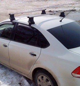 Багажник на крышу lux polo sedan