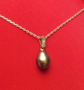 Подвеска, серебро 925, с жемчужиной