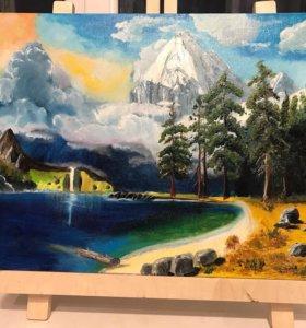 Картина «Сказочное озеро»