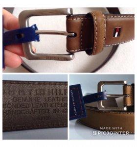 Новый кожаный ремень Tommy Hilfiger из США