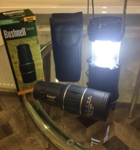 Монокуляр Bushnell 16x52 и кемпинговый фонарь 5700