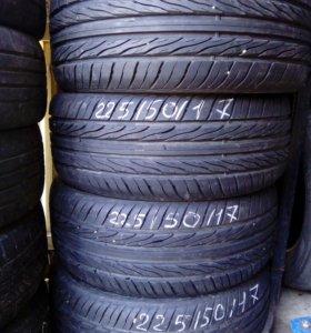 225/50/ r17 Комплект шин как новые пробег 500км
