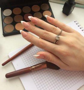 Наращивание ногтей, покрытие
