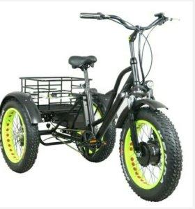 Трёхколёсный электро велосипед