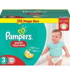 Pampers подгузники-трусики 3 120 шт