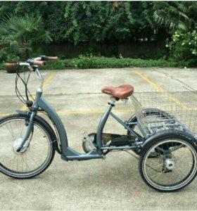 Трёхколёсный велосипед для взрослых (дачи,огорода)