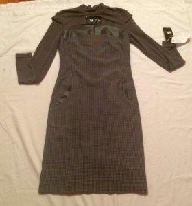 Платье новое серое