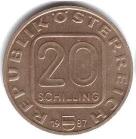 Австрия 20 шиллингов 1987