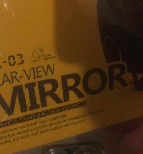 Зеркало с камерой заднего вида + видеорегистратор