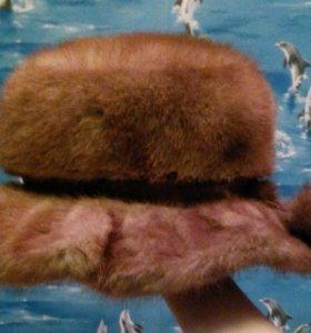 Норковая шапка зимняя