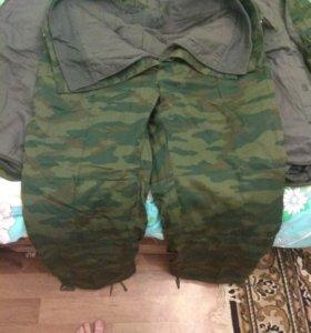 Бушлат в комплекте со штанами утепленными