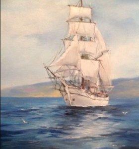 Картина зовущая в море