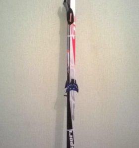 Новые лыжи +палки