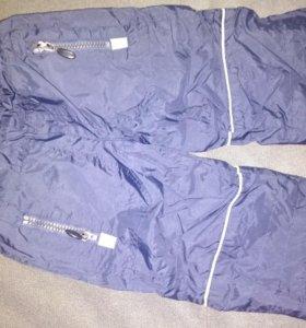 Утепленные штанишки на мальчика