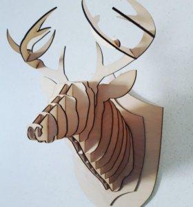 Декоративная голова оленя