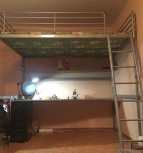 Двуспальная кровать-чердак IKEA