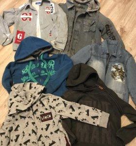 Толстовки,джинсовки,брюки и др