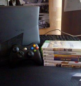 Xbox 360 в отличном состоянии с кинектом