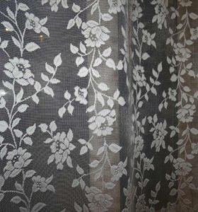 Готовые шторы - Тюль белый.