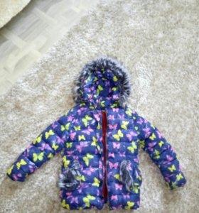 Куртка зимняя для девочки.5-6лет