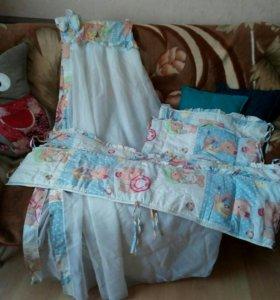 Комплект для кроватки на мальчика