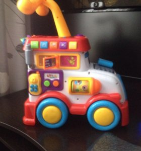 Развивающая игрушка машинка-каталка