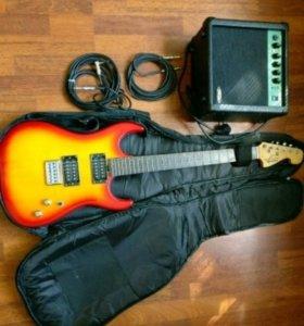 Гитара Washburn. Гитарный чехол. Комбик