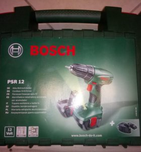 Дрель-шуруповерт Bosch PSR 12 1.2Ah x2 Case