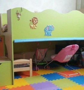 Кровать-чердак детская 160*80