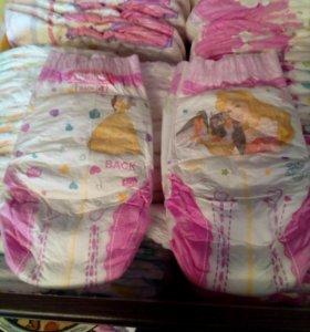 Подгузники трусики 4 хагис для девочек