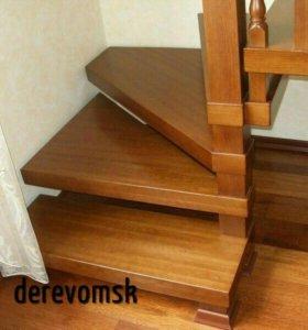 Изготовим ступени из дерева