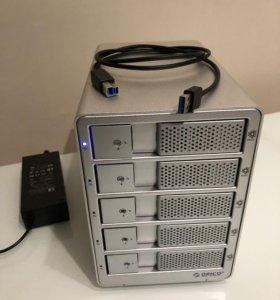 Orico 9558U3 бокс на 5 жестких дисков 3'5