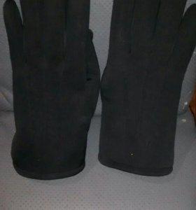 Перчатки теплые новые