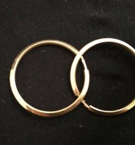 """Золотые серьги """"Кольца"""" 💎💍"""